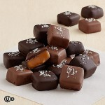 For the gourmand in your life. These Handmade Gray Sea Salted Caramels are the perfect end to a gourmet dinner. Each caramel is smothered in milk chocolate and sprinkled with Sel Gris, otherwise known as gray sea salt. Sweet, salty, smooth, crunchy. free weekday shipping , delivery to usa from pakistan. order online now