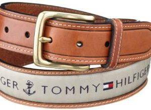 Tommy Hilfiger Men's Ribbon Inlay Belt