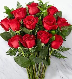 12 Red Roses Birthday & Anniversary Flowers Gifts to USA from Pakistan