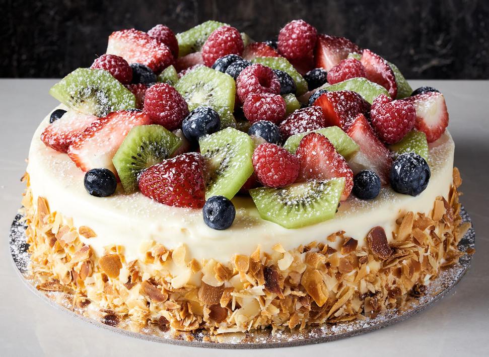Birthday Vanila Fruits Cake To Sydney