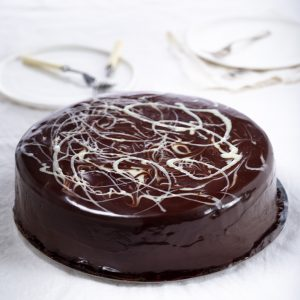 brown and white mousse cake to australia