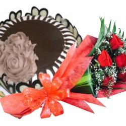 Dubai Cake Flower Combo