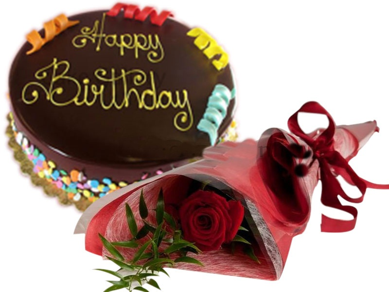 Rainbow Chocolate Cake Flower Gift Combo To Dubai Abu Dhabi Sharjah UAE  Emirates
