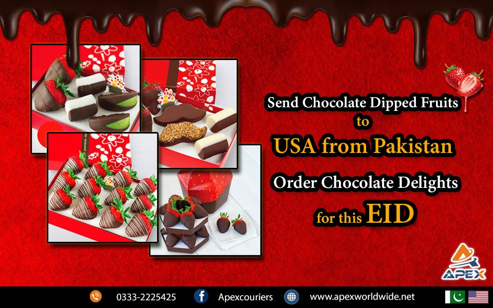 Send Chocolate dipped fruits to USA from Pakistan