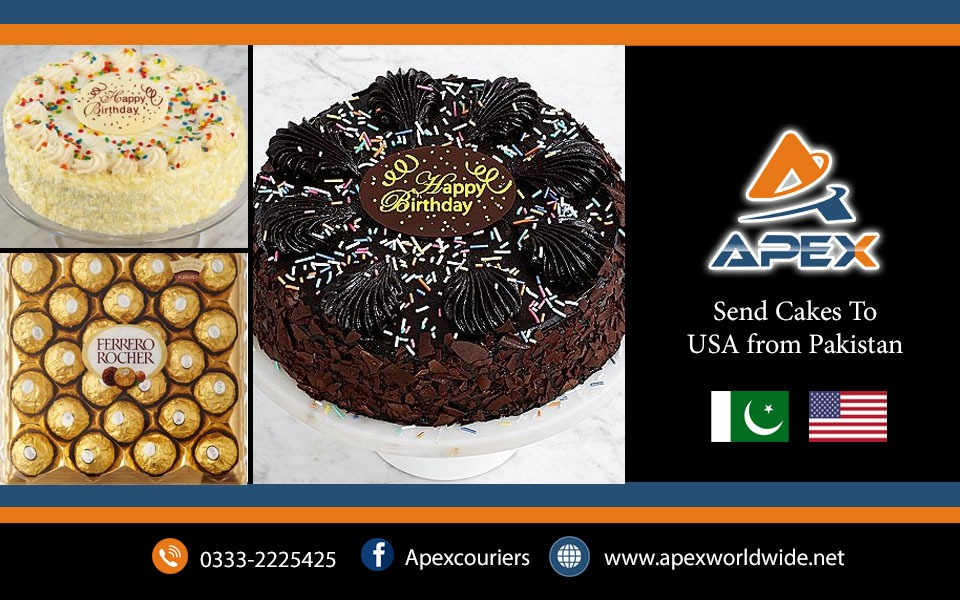 Send Birthday Wedding Cakes to USA from Pakistan