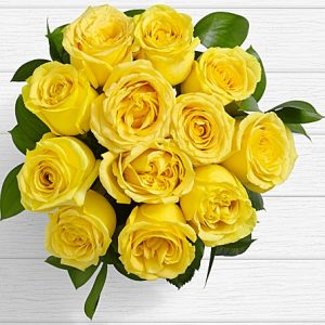 beautiful yellow long stem roses for expressing friendship and platonic love from Azad Kashmir Muzzafarabad Gilgit Baltistan to USA