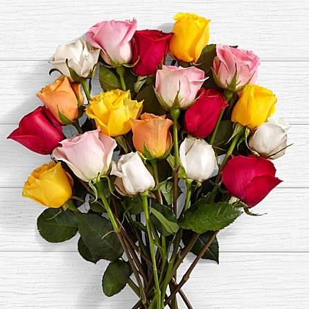 assorted beautiful rainbow roses for anniversary birthday i love you just because gift present from Pakistan to USA