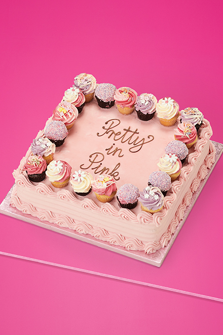 A Pink Themed Cake Perfect To Celebrate The Joyous Occasion Of Girls Birthday London From Pakistan