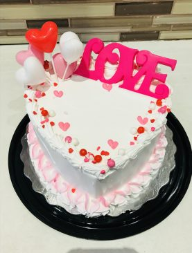 Heart-shaped sprinkle cake Toronto, Brampton, Scarborough Ontario Canada  from Pakistan