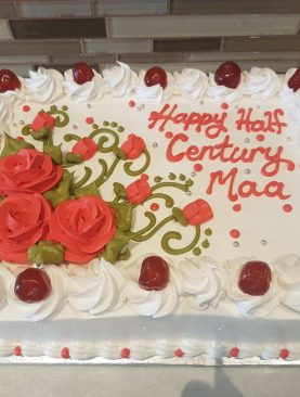 Rose Fondant cream cake Toronto, Brampton, Scarborough Ontario Canada  from Pakistan