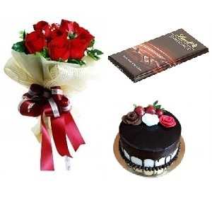 anniversary birthday celebration congratulations cake flowers bouquet rose chocolate from Pakistan to UAE