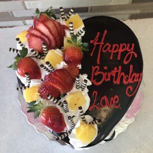 anniversary birthday valentine day heart shape fruit cake from Karachi Lahore Islamabad Rawalpindi to Canada