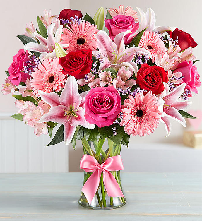Pink and Red Blooms Beautiful Birthday Anniversary Flowers Gift To Canada  from Pakistan