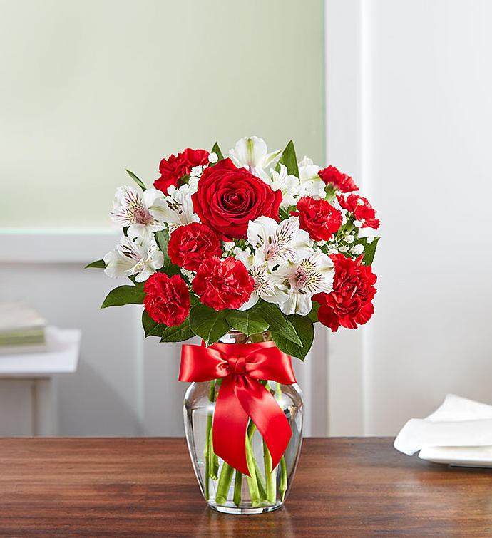 Roses and White Lilies Birthday Anniversary Flowers Gift To Canada from  Pakistan