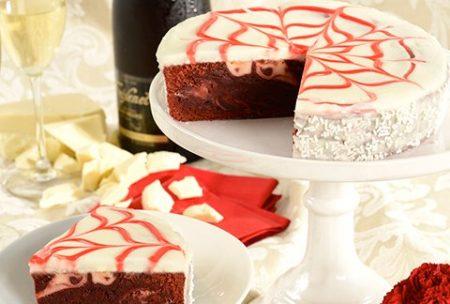 anniversary birthday romance celebration congratulations red velvet brownie cake from Hyderabad Nawabshah Thatta to USA
