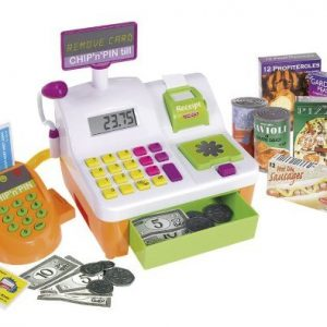 Cash register toy with credit cards