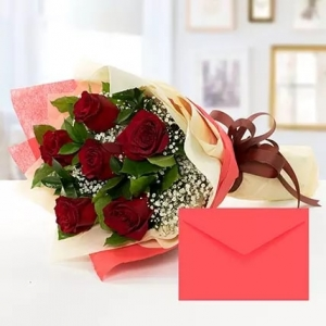 6-red-roses-bouquet-with-greeting-card-birthday-anniversary-flowers-pakistan-to-jeddah-saudi-arabia