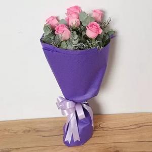6-pink-roses-birthday-anniversary-flowers-karachi-lahore-islamabad-to-jeddah-saudi-arabia