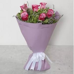 6-purple-roses-birthday-anniversary-flowers-karachi-lahore-islamabad-to-jeddah-saudi-arabia