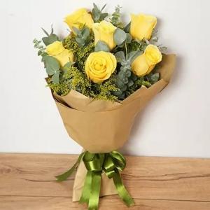 6-Yellow-Roses-birthday-anniversary-flowers-karachi-lahore-islamabad-to-jeddah-saudi-arabia