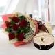 enchanting-rose-bouquet-with-marble-cake-birthday-anniversary-flowers-karachi-lahore-islamabad-to-jeddah-saudi-arabia