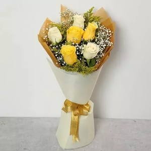 white-and-yellow-roses-bouquet-birthday-anniversary-flowers-karachi-lahore-islamabad-to-jeddah-saudi-arabia
