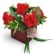 He-Loves-Me 4-red-roses-Flowers to Toronto, Mississauga, Ontario, Alberta, Calgary, Hamilton, Ottawa, Montreal, Winnipeg allover Canada from Karachi, Lahore, Islamabad Pakistan