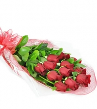 Perfect Wrapped Long-Stemmed Red Roses-Flowers to Toronto, Mississauga, Ontario, Alberta, Calgary, Hamilton, Ottawa, Montreal, Winnipeg allover Canada from Karachi, Lahore, Islamabad Pakistan