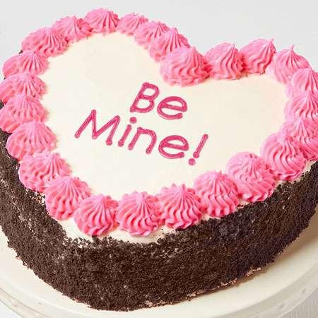 be mine heart shaped chocolate cake to USA from Pakistan