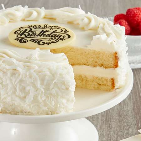 coconut cream anniversary birthday cake to usa from pakistan